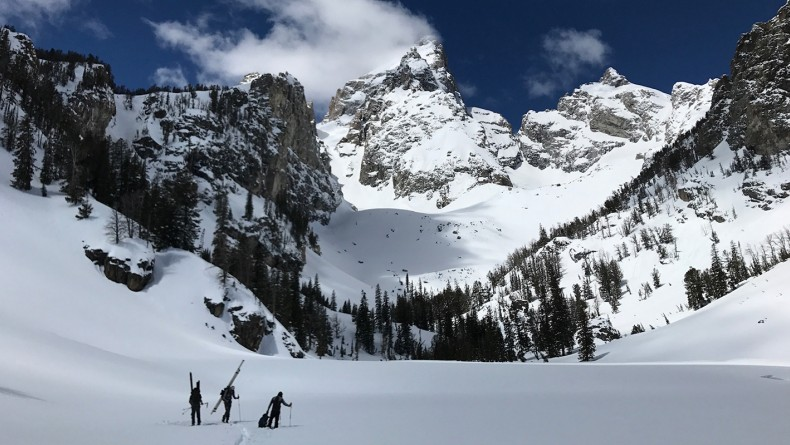 Image of Delta Lake research site in Grand Teton National Park