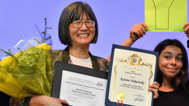 Karalee Nakatsuka '89, 2019 California History Teacher of the Year