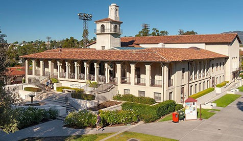 View of Johnson Student Center