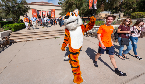 Oxy mascot Oswald backed by Thorne Hall