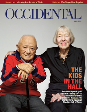 A portrait of an elderly couple. Cover story: The Kids in the Hall