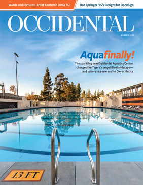 The new swimming pool at Oxy's De Mandel Aquatics Center. Cover story: Aquafinally!