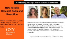 2021 New Faculty Research Talks & Reception