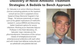 Image for George Sakoulas: Discovery of Novel Antibiotic Treatment Strategies: A Bedside to Bench Approach