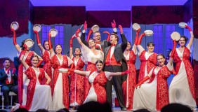 The Oxy Glee Club participates as the chorus in Pacific Opera Project's 2018 production of La Traviata