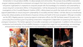 Image for Dr. Marisa Tellez: Sinking Your Teeth into Crocodile Conservation Through Community Stewardship