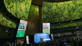 Speakers at the Climate Action Summit at the UN
