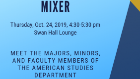 Flyer for American Studies Mixer