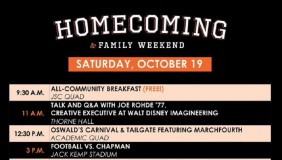 The Homecoming Schedule