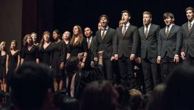 Oxy's glee club performing