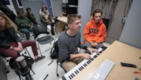 Prof. Adam Schoenberg teaches film scoring at Occidental.
