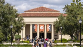 Occidental College's iconic Thorne Hall