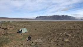 An Icelandic landscape, the site of student-faculty research