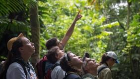 Occidental student researchers in Costa Rica.