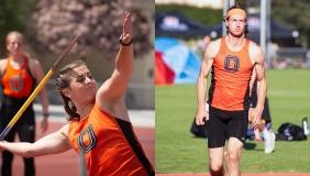 Oxy students athletes Sabrina Degnan and Austin DeWitz