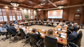 Workshop session in Oxy's Cushman Board Room (Photo: USC Global Health)