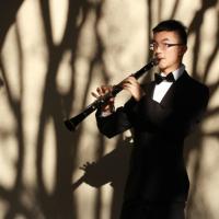 Sherwin Zhang playing clarinet