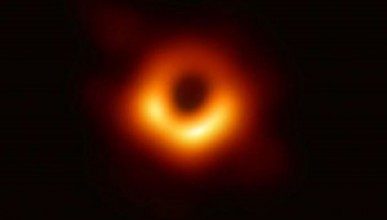 First image of a black hole, provided by the Event Horizon Telescope