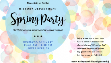 Spring Party poster with bubbles