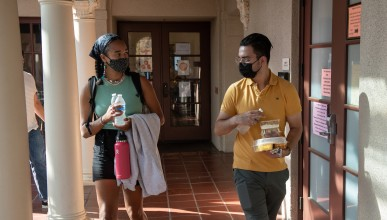 Multicultural Summer Institute students at Occidental in July 2021
