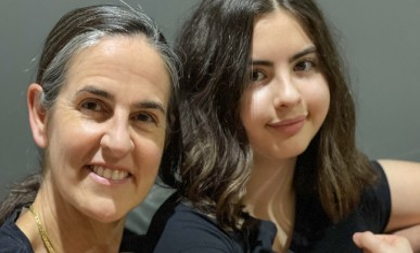 Barbara Valiente and daughter Alexandra