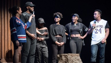 Oxy students at the Apollo Night performance