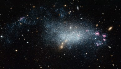 A dwarf galaxy in space