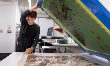 Occidental College art professor and artist Linda Lyke