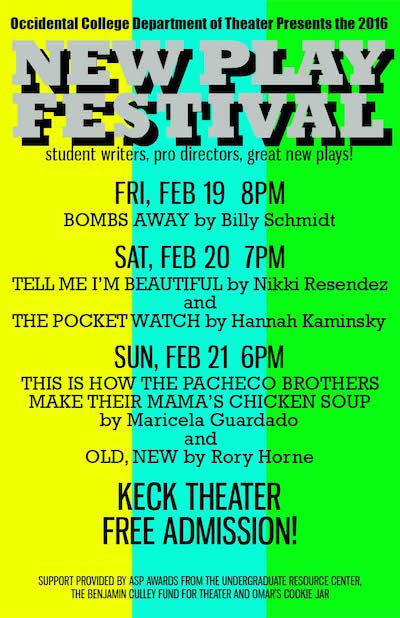 2016 New Play Festival